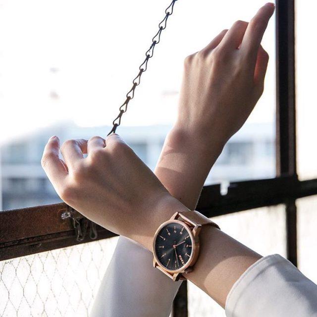 Loving my KOMONO winston royale watch in rose gold blackhellip