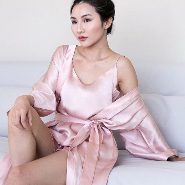 Cloroom silk sleepwear gives me beauty sleep literally with itshellip